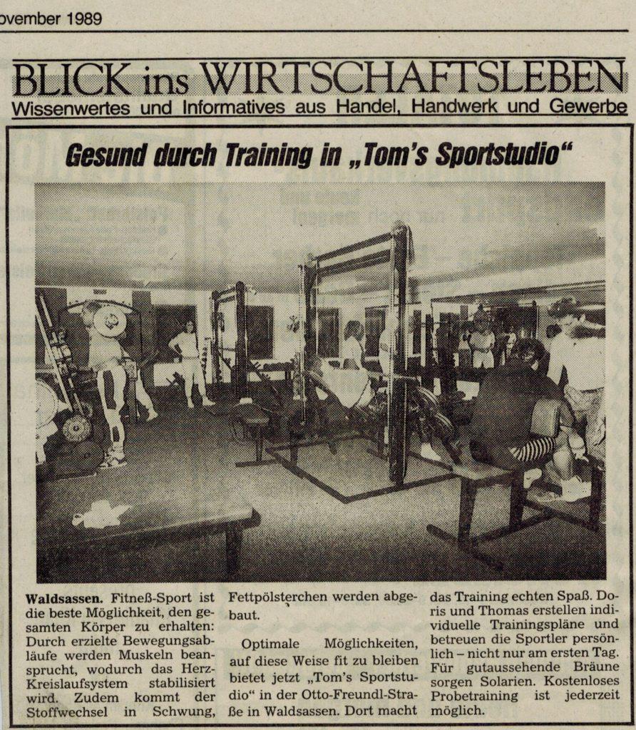"""Studioeröffnung """"Toms Sportstudio"""""""
