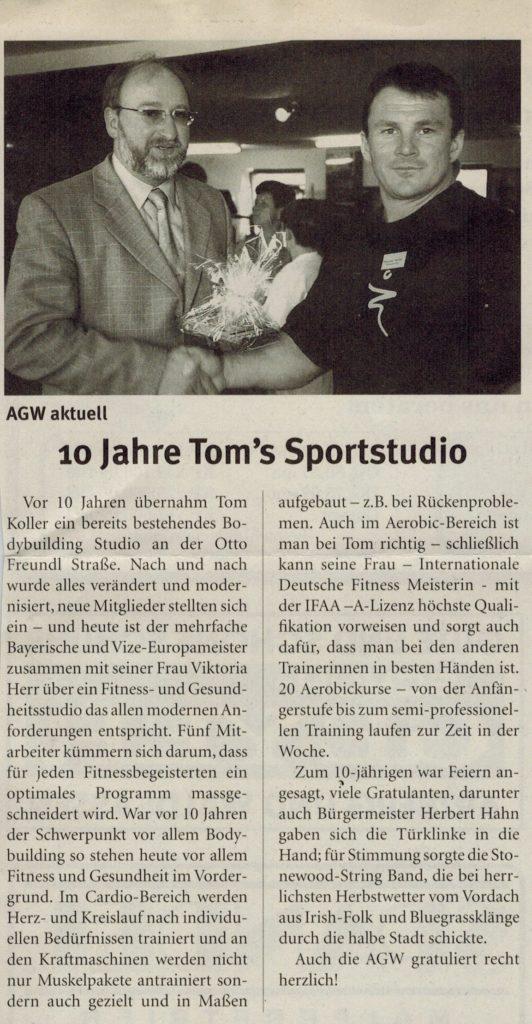 10-jähriges Jubiläum: Umbau Sportstudio